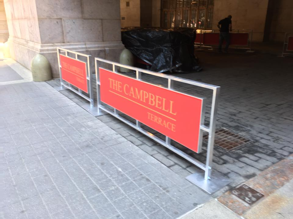Sidewalk Partitions Barricades Awnings New York New